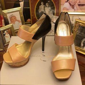Jessica Simpson Vad-10 Pearlized Heels 6